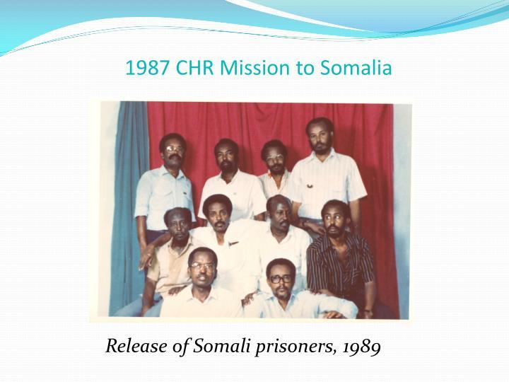 1987 CHR Mission to Somalia