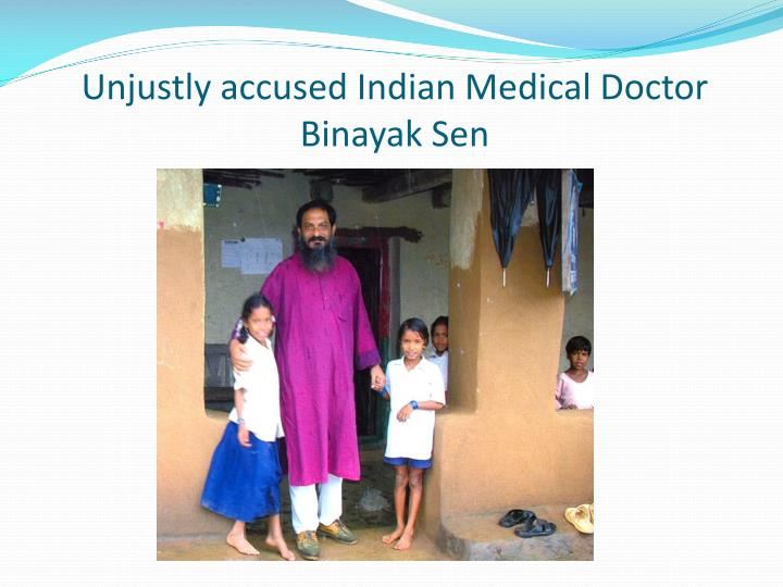 Unjustly accused Indian Medical Doctor