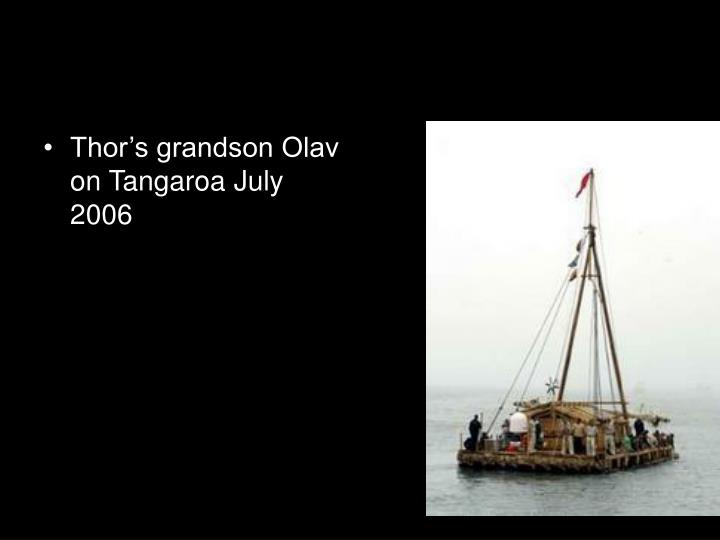Thor's grandson Olav on Tangaroa July 2006