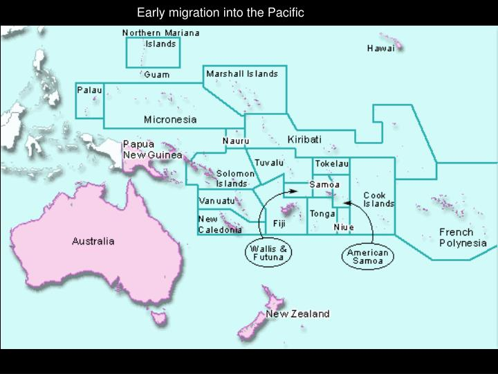 Early migration into the Pacific