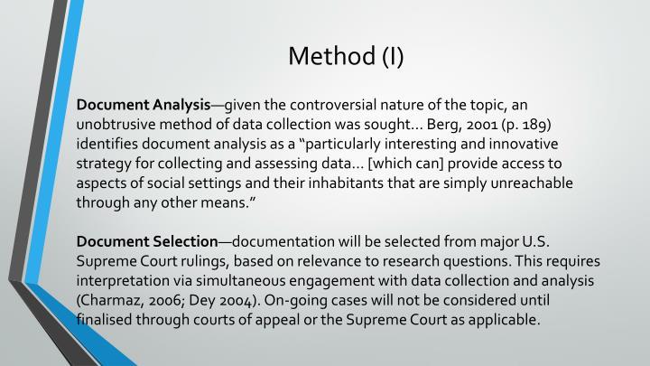 Method (I)
