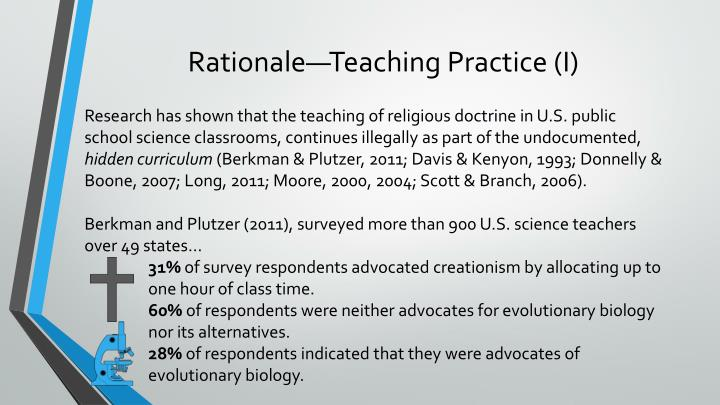 Rationale—Teaching Practice (I)
