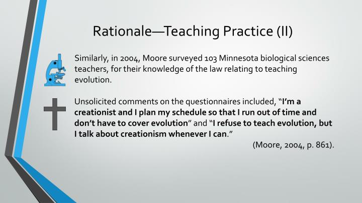 Rationale—Teaching Practice (II)