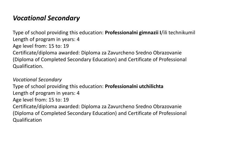 Vocational Secondary