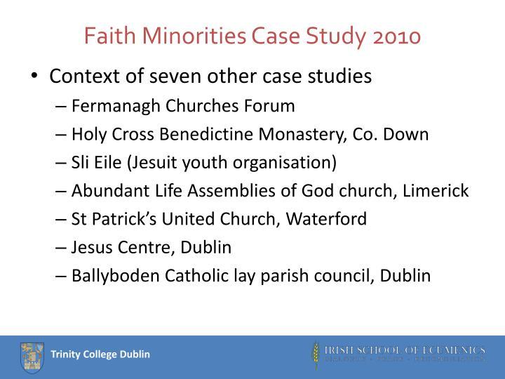 Faith Minorities Case Study 2010