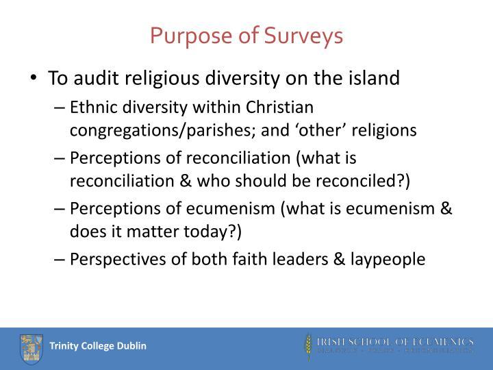 Purpose of Surveys
