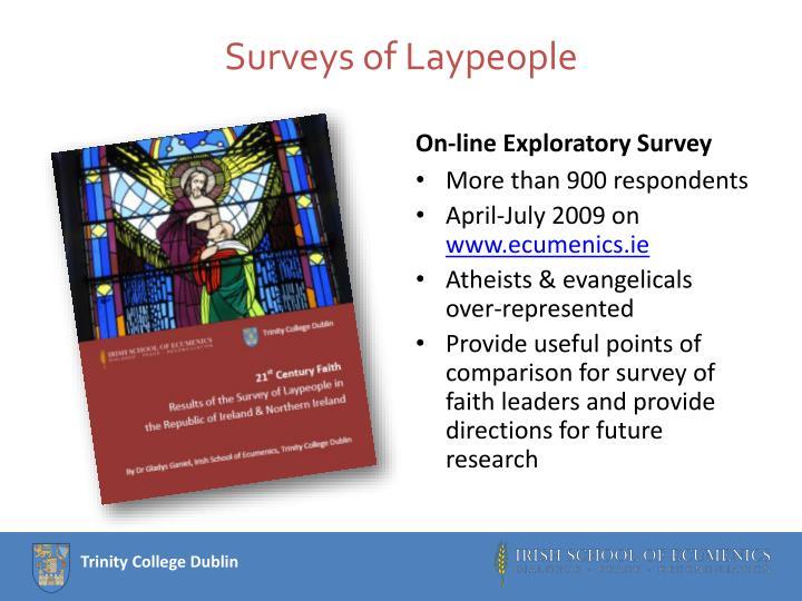 Surveys of Laypeople