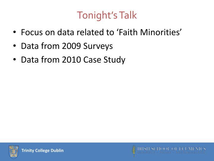 Tonight's Talk