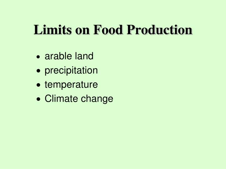 Limits on Food Production