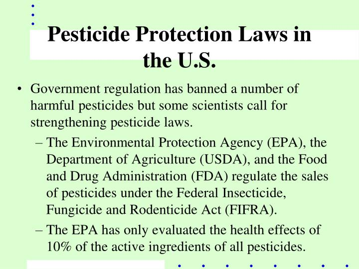 Pesticide Protection Laws in the U.S.