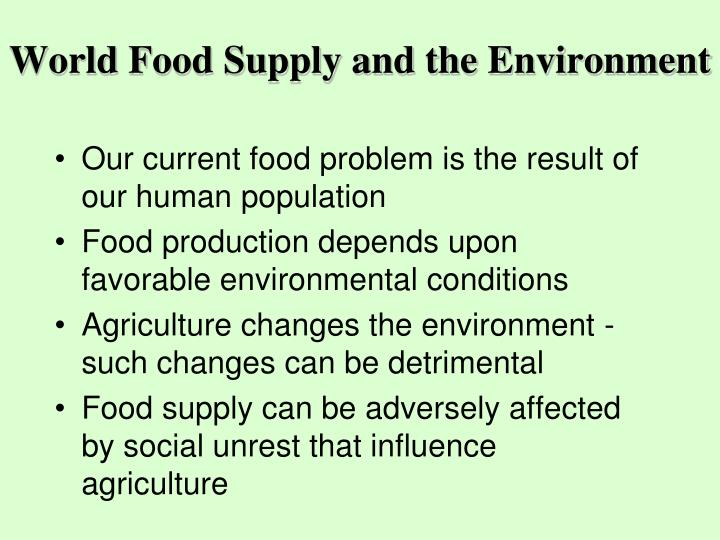 World Food Supply and the Environment