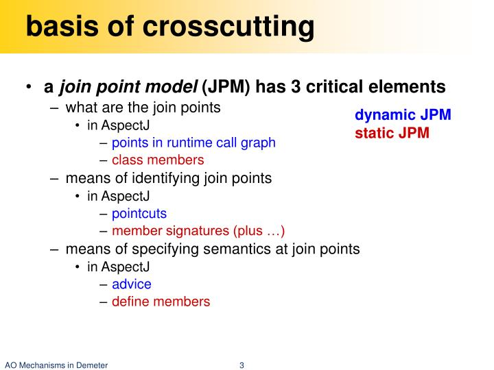 basis of crosscutting