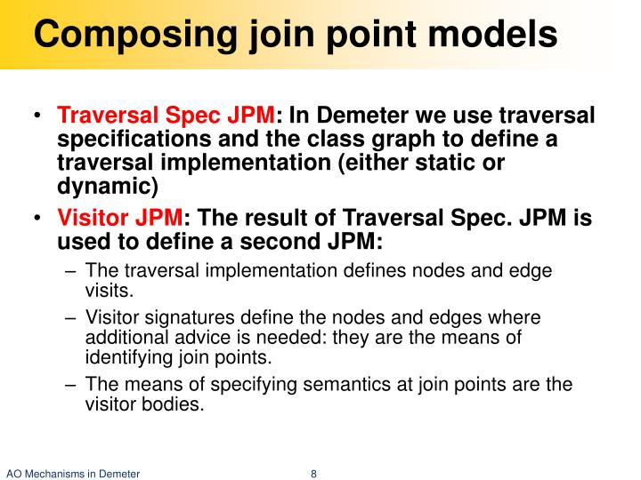 Composing join point models