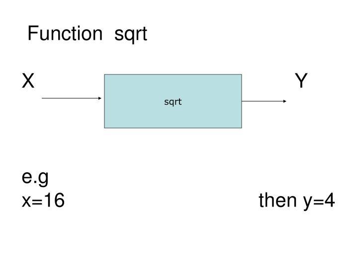 Function  sqrt