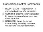 transaction control commands