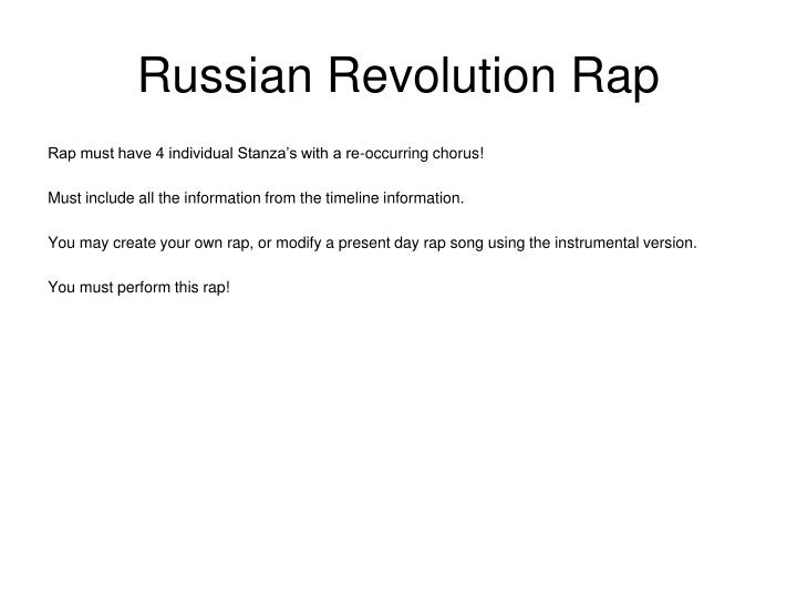 Russian Revolution Rap