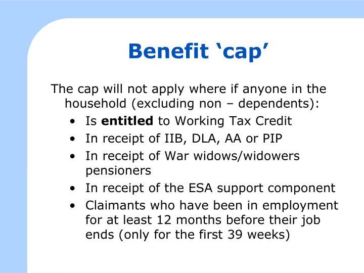 Benefit 'cap'