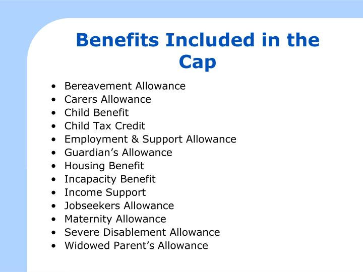 Benefits Included in the Cap