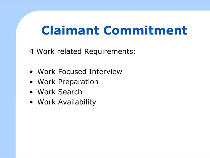 Claimant Commitment