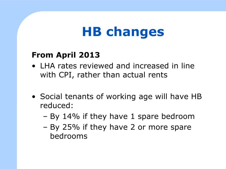 HB changes