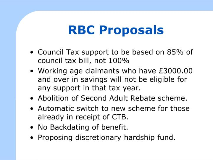 RBC Proposals