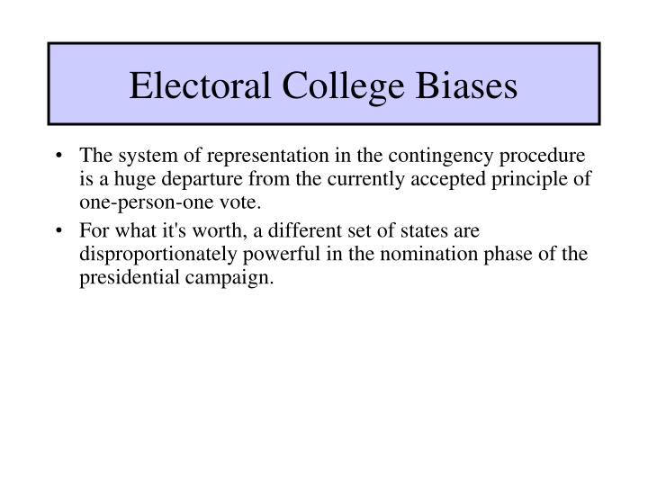 Electoral College Biases