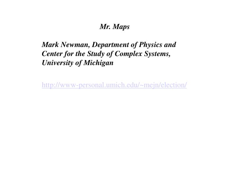 Mr. Maps