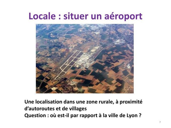 Locale : situer un aéroport