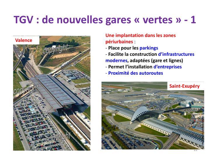TGV : de nouvelles gares «vertes» - 1