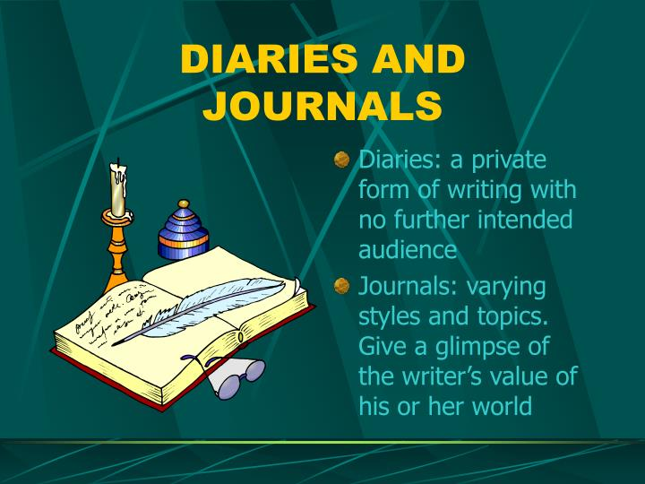 DIARIES AND JOURNALS