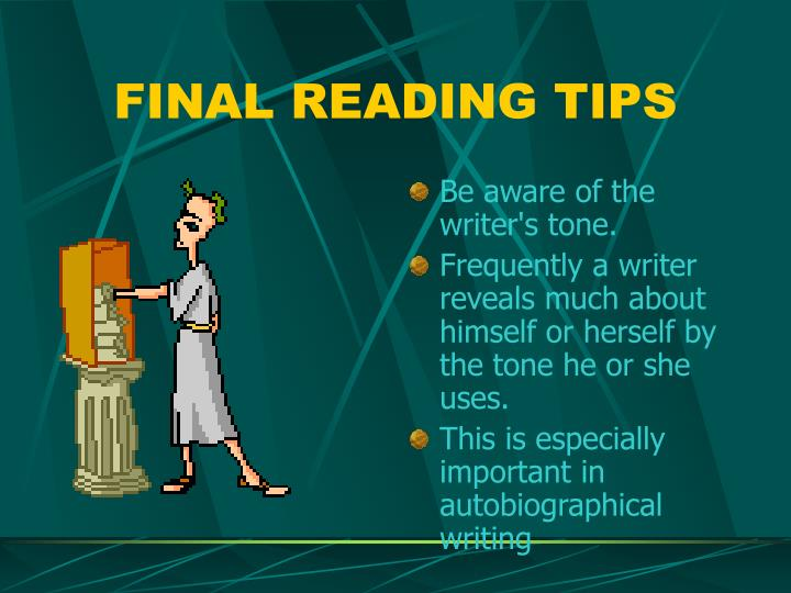 FINAL READING TIPS