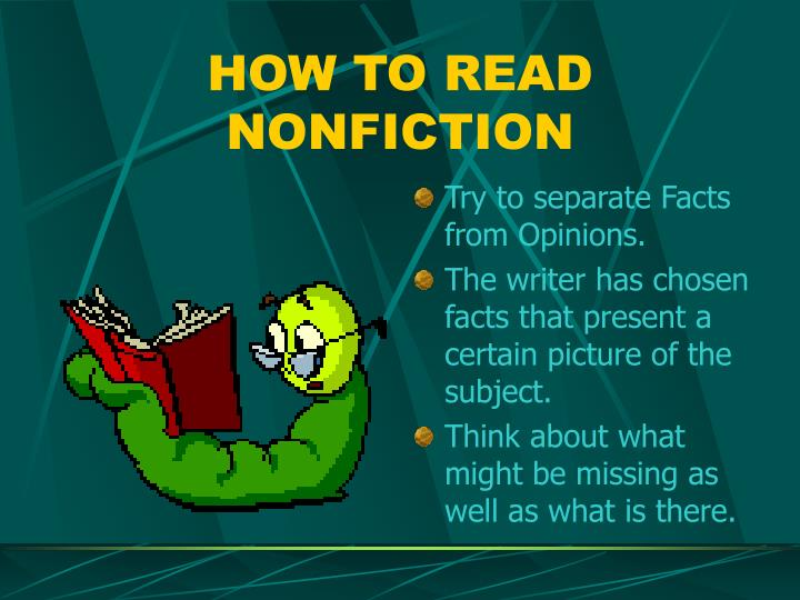 HOW TO READ NONFICTION