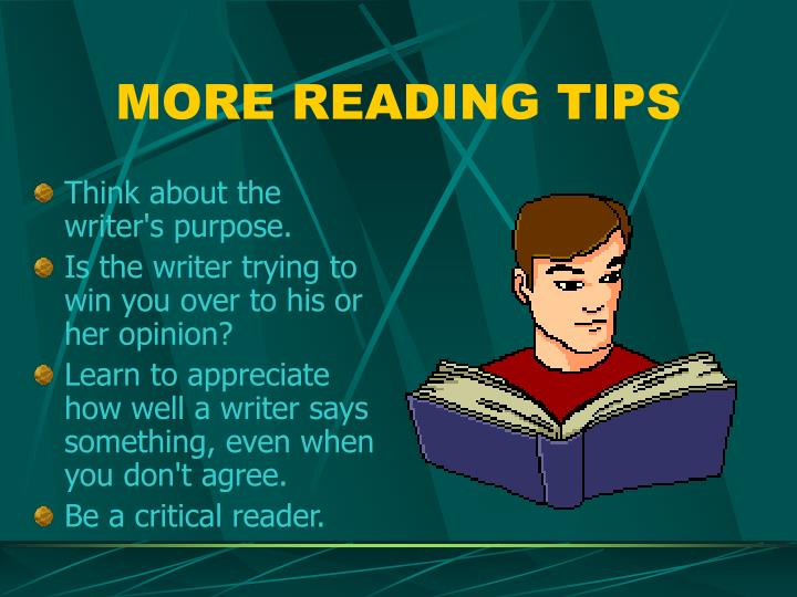MORE READING TIPS