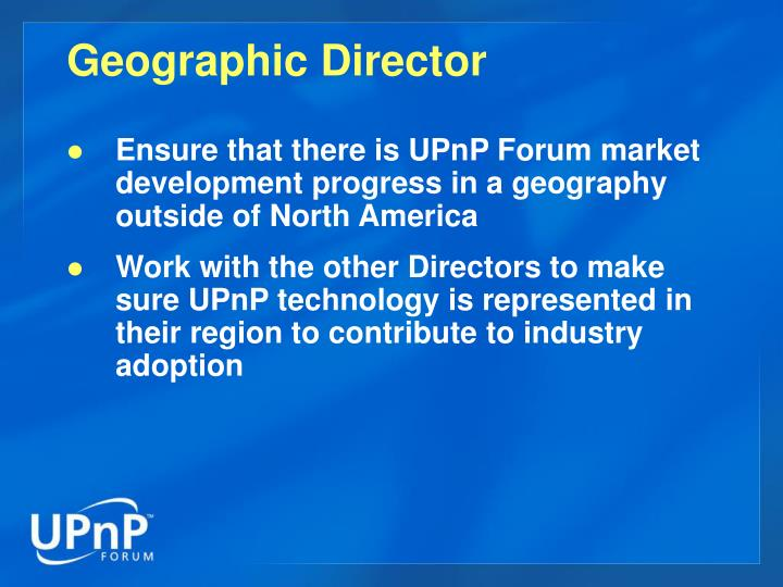 Geographic Director