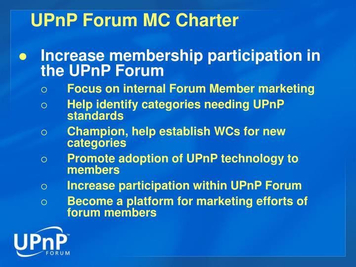 UPnP Forum MC Charter