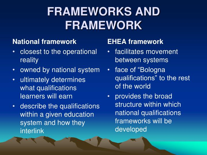 National framework