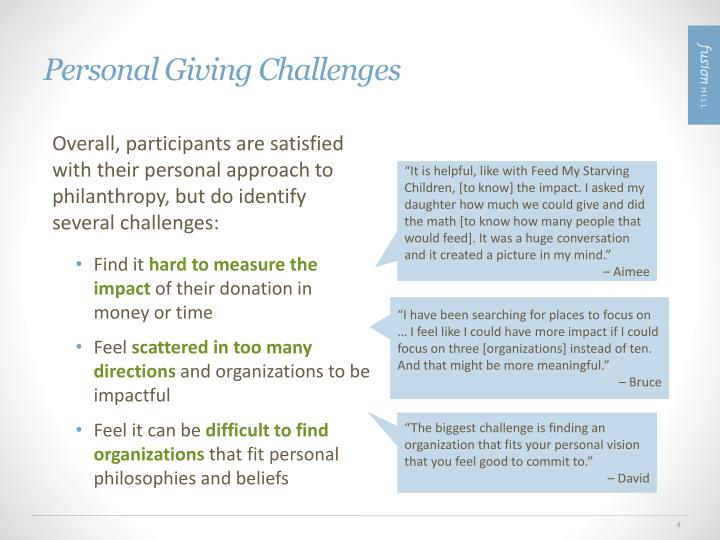 Personal Giving Challenges
