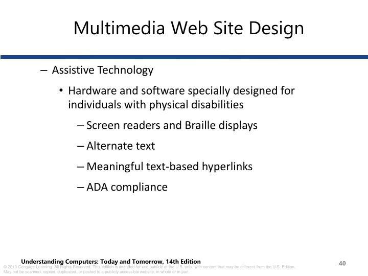 Multimedia Web Site Design