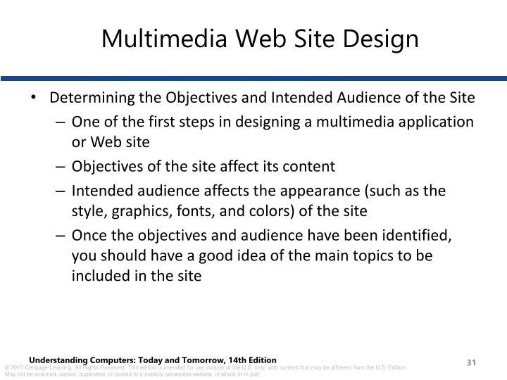 Multimedia Web Site Design