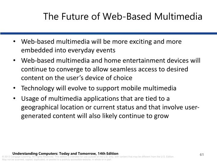 The Future of Web-Based Multimedia