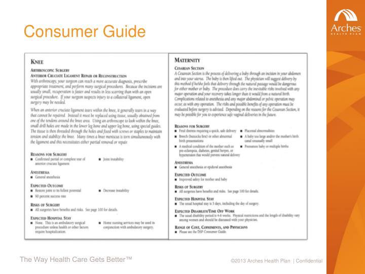 Consumer Guide