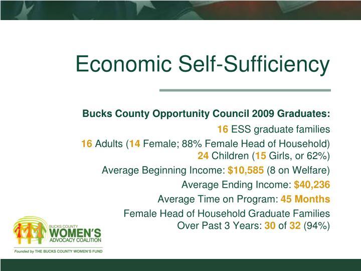 Economic Self-Sufficiency