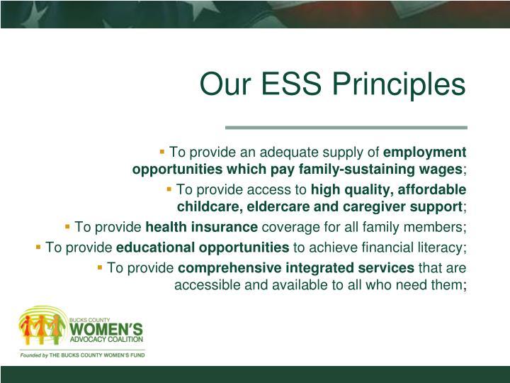Our ESS Principles