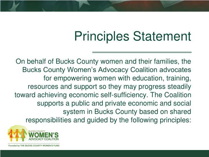 Principles Statement