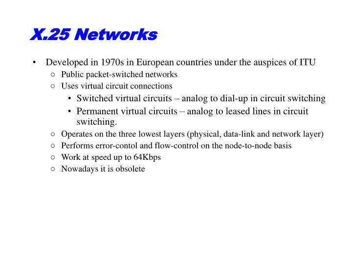 X.25 Networks