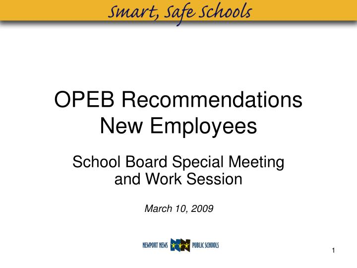 OPEB Recommendations