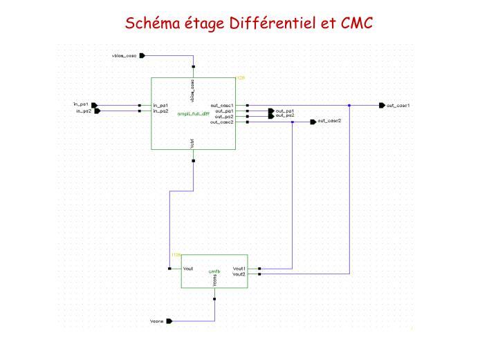 Schéma étage Différentiel et CMC
