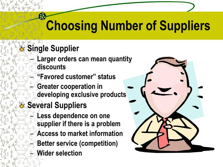 Choosing Number of Suppliers