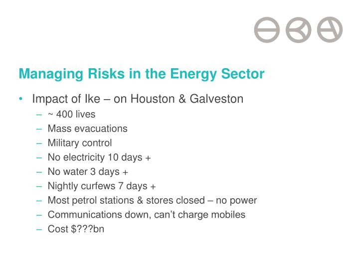 Managing Risks in the Energy Sector