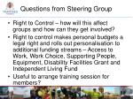 questions from steering group1